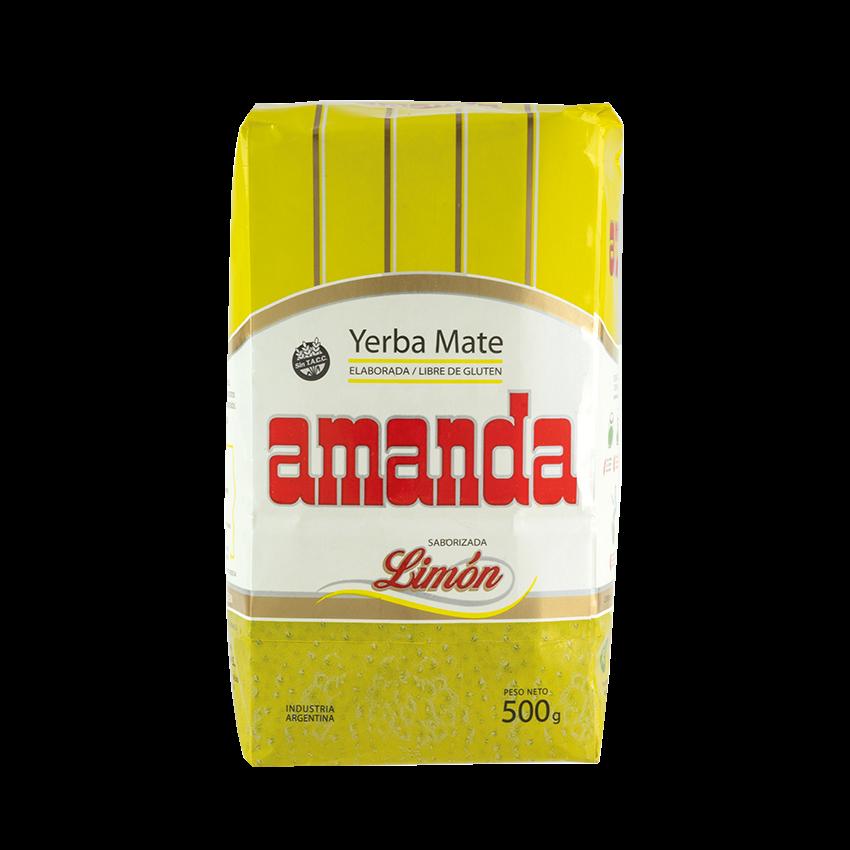 Yerba Mate Saborizada Limón AMANDA