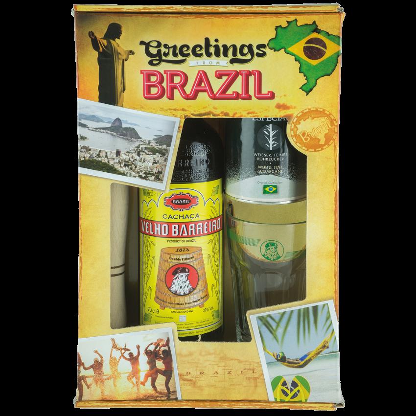 VELHO BARREIRO Cachaça Caipirinha-Set