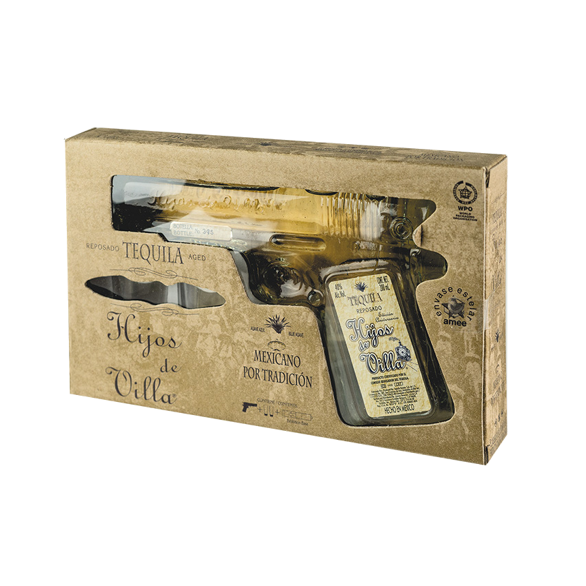 Tequila Premium HIJOS DE VILLA Reposado (Pistol)