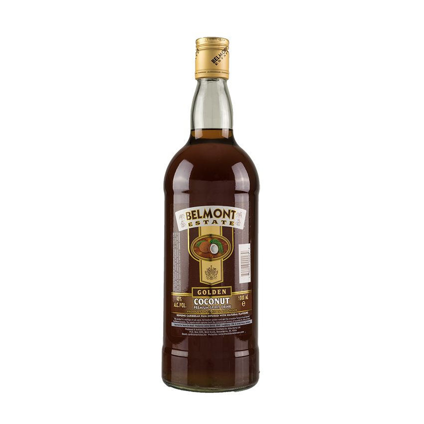 BELMONT, ESTATE, Golden, Coconut, Rum, 1, l