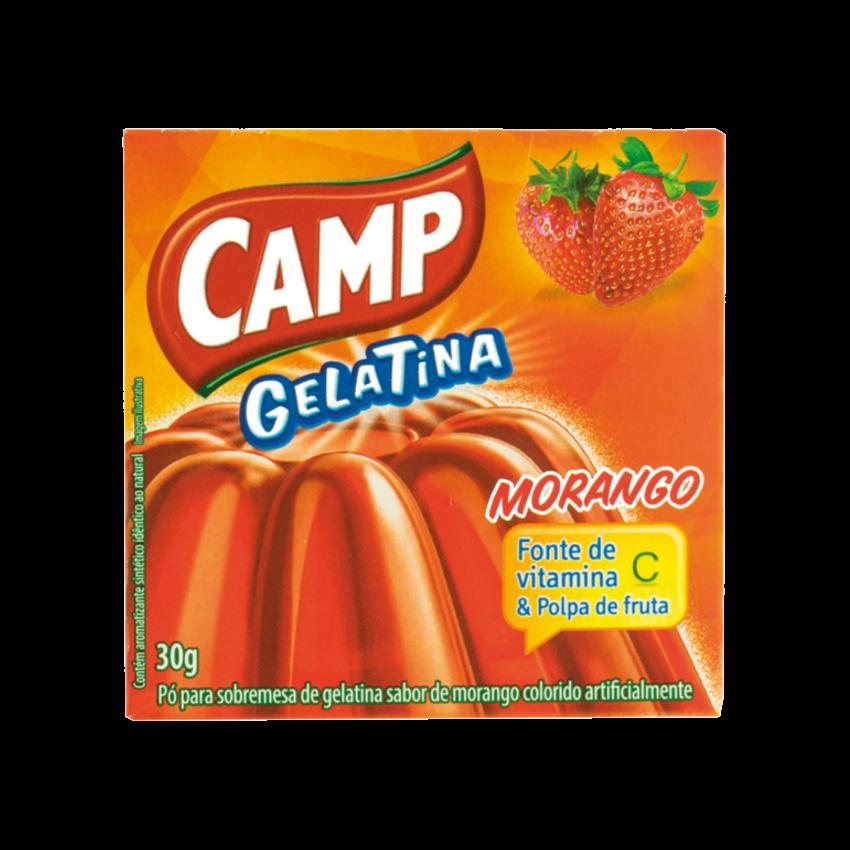 Pó para Gelatina Sabor Morango CAMP