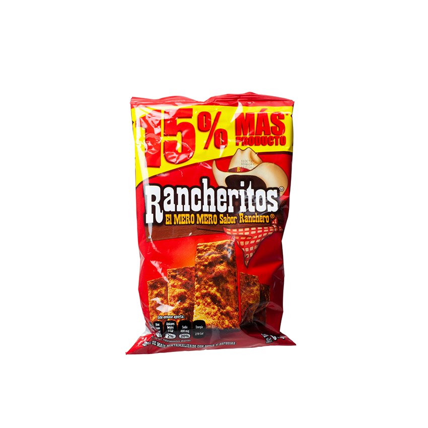 RANCHERITOS Totopos de Maiz con Chile, 60g