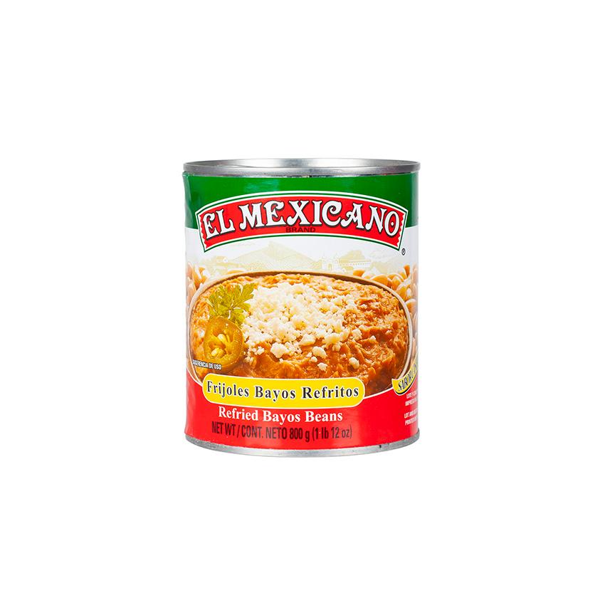 EL MEXICANO Frijoles Bayos Refritos, 800g