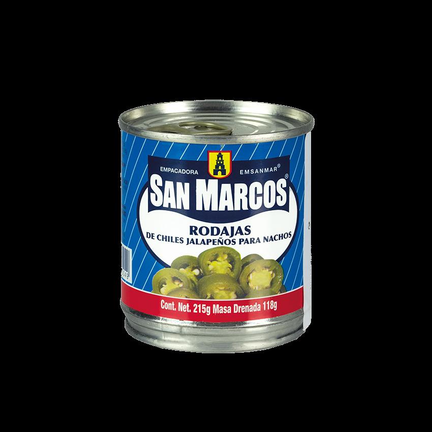 Rodajas de Chiles Jalapeños para Nacho SAN MARCOS