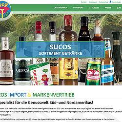 SUCOs Import- & Markenvertrieb: Startseite Homepage
