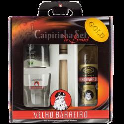VELHO BARREIRO Cachaça Gold Caipirinha-Set